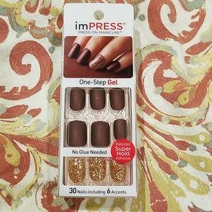 NEW Impress gel press on nails